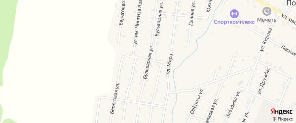 Бульварная улица на карте Покровского села Дагестана с номерами домов