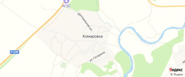 Карта села Комаровки в Саратовской области с улицами и номерами домов