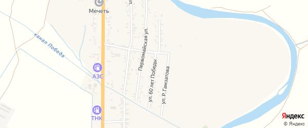 Улица Победы на карте Краснооктябрьского села с номерами домов