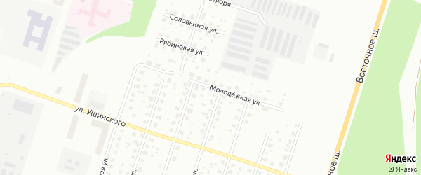 Молодежная улица на карте Котласа с номерами домов