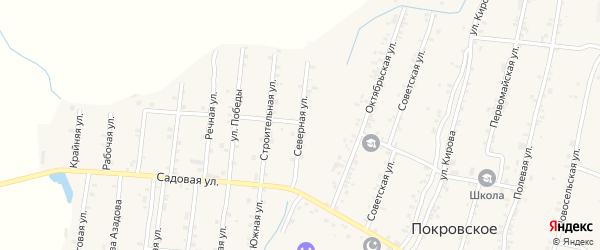 Северная улица на карте Покровского села Дагестана с номерами домов