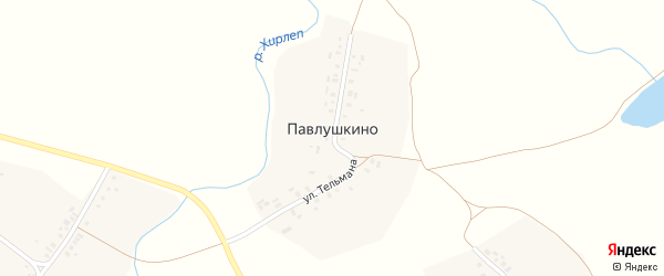 Улица Тельмана на карте деревни Павлушкино с номерами домов