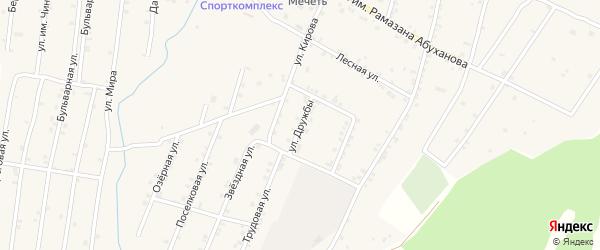 Улица Дружбы на карте Покровского села Дагестана с номерами домов