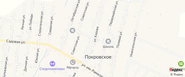 Школьная улица на карте Покровского села Дагестана с номерами домов