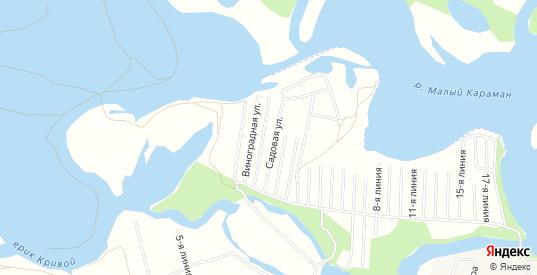 СТ Садовое товарищество завода Радон N2 на карте Маркса с номерами домов