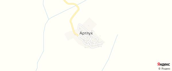 Улица Талут Дибира на карте села Артлуха с номерами домов