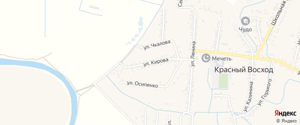 Улица Кирова на карте села Красного Восхода Дагестана с номерами домов