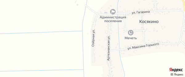 Озерная улица на карте села Косякино Дагестана с номерами домов