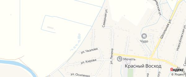 Улица Мичурина на карте села Красного Восхода Дагестана с номерами домов
