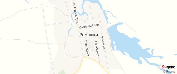 Карта поселка Ромашки в Волгоградской области с улицами и номерами домов
