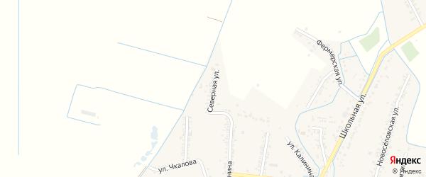 Северная улица на карте села Красного Восхода Дагестана с номерами домов