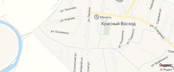 Улица Ленина на карте села Красного Восхода Дагестана с номерами домов