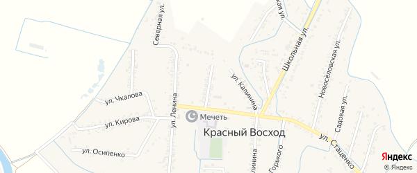 Улица Пушкина на карте села Красного Восхода Дагестана с номерами домов