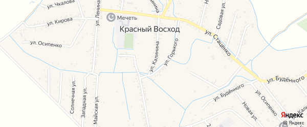 Улица Калинина на карте села Красного Восхода Дагестана с номерами домов