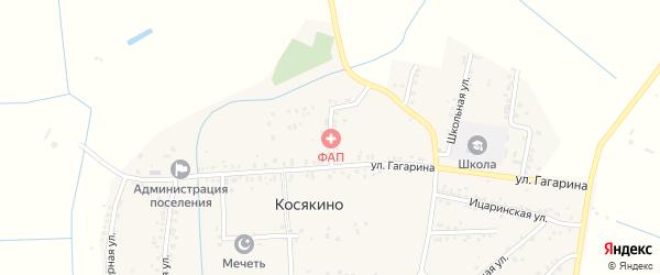 Короткий переулок на карте села Косякино Дагестана с номерами домов