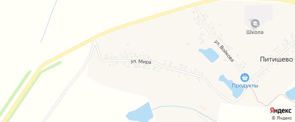 Улица Мира на карте деревни Питишево с номерами домов