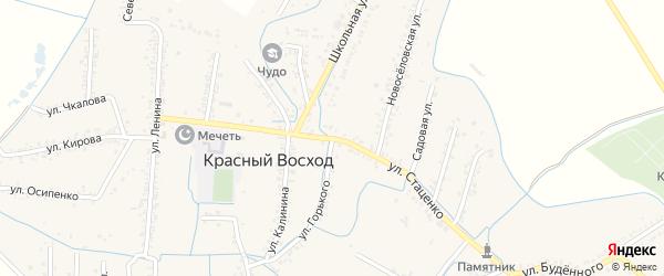 Улица Петра Стаценко на карте села Красного Восхода Дагестана с номерами домов