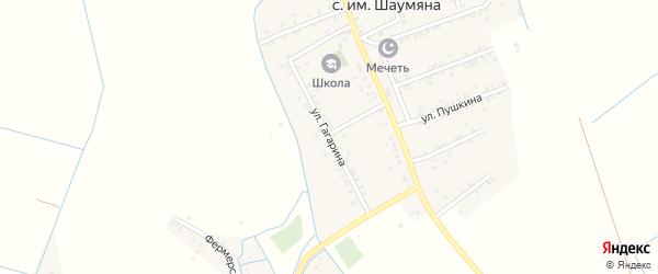 Улица Гагарина на карте села Имени Шаумяны Дагестана с номерами домов