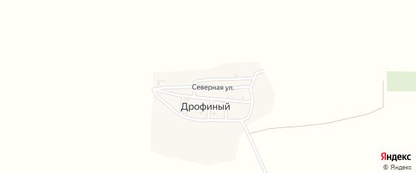 Северная улица на карте Дрофиного поселка Астраханской области с номерами домов
