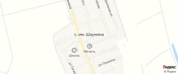Улица Пушкина на карте села Имени Шаумяны Дагестана с номерами домов