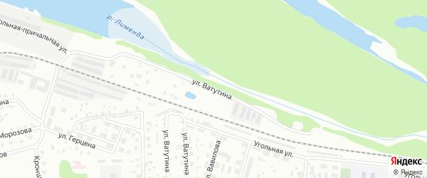 Улица Ватутина на карте Котласа с номерами домов