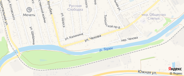 Улица Чехова на карте Кизляра с номерами домов