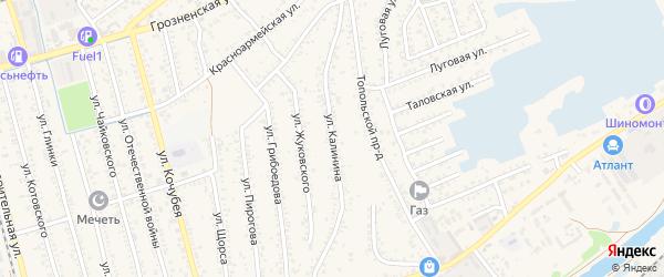 Улица Калинина на карте поселка им Жданова с номерами домов