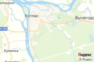 Карта г. Котлас Архангельская область