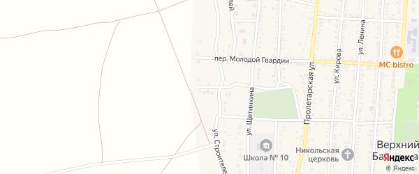 Садовый переулок на карте поселка Верхнего Баскунчака Астраханской области с номерами домов