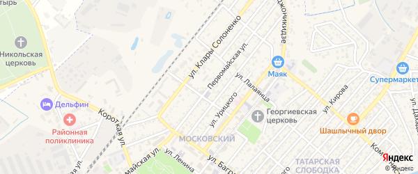Первомайская улица на карте Кизляра с номерами домов