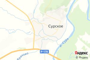 Карта пгт Сурское Ульяновская область
