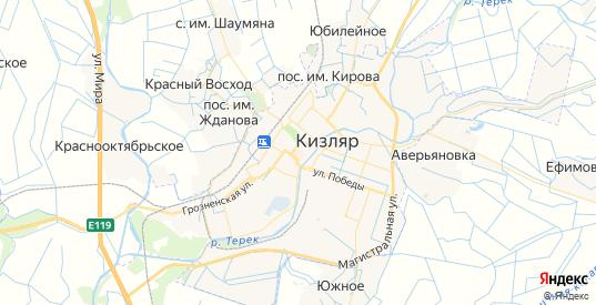 Карта Кизляра с улицами и домами подробная. Показать со спутника номера домов онлайн