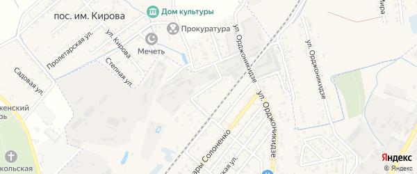 Мельничная улица на карте Кизляра с номерами домов