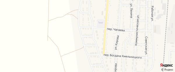 5-й Дачный переулок на карте поселка Верхнего Баскунчака с номерами домов