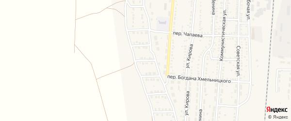 4-й Дачный переулок на карте поселка Верхнего Баскунчака Астраханской области с номерами домов