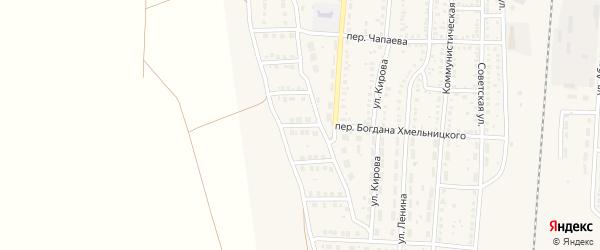 3-й Дачный переулок на карте поселка Верхнего Баскунчака Астраханской области с номерами домов