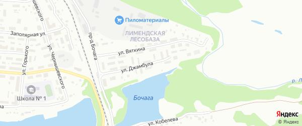 Улица Джамбула на карте Котласа с номерами домов