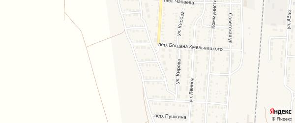 2-й Дачный переулок на карте поселка Верхнего Баскунчака Астраханской области с номерами домов