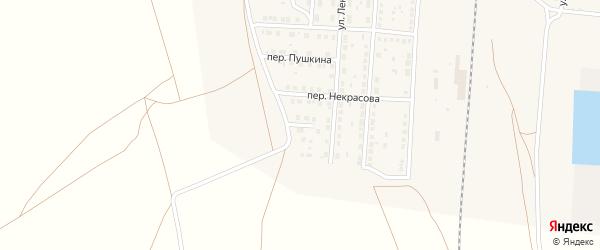 Переулок Толстого на карте поселка Верхнего Баскунчака с номерами домов