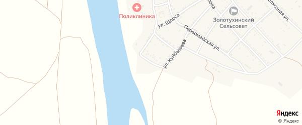 Набережная улица на карте села Золотухи Астраханской области с номерами домов