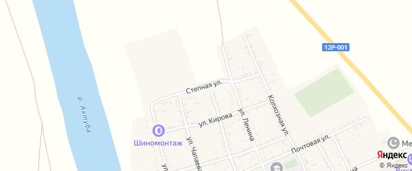 Степная улица на карте села Золотухи Астраханской области с номерами домов