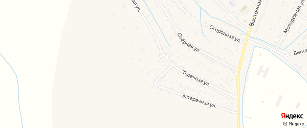 Улица Пушкина на карте Южного села Дагестана с номерами домов