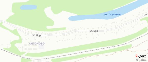Улица Бор на карте Котласа с номерами домов