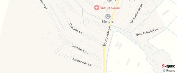 Озерная улица на карте Южного села Дагестана с номерами домов