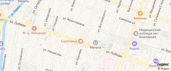 Улица Крылова на карте Кизляра с номерами домов