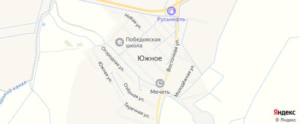 Карта Южного села в Дагестане с улицами и номерами домов