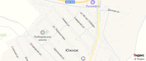 Новая улица на карте Южного села Дагестана с номерами домов