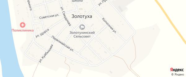 Садовая улица на карте села Золотухи Астраханской области с номерами домов