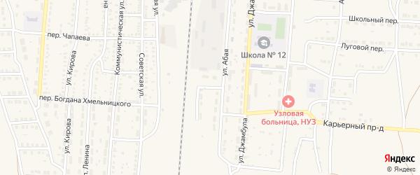 Южная улица на карте поселка Верхнего Баскунчака Астраханской области с номерами домов