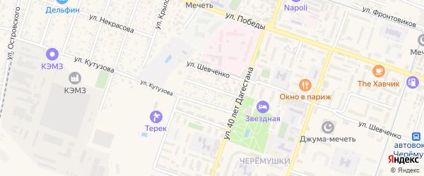 Улица Темирязева на карте Кизляра с номерами домов